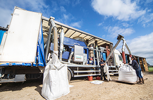Efficient mobile seed processing service keeps customers on track